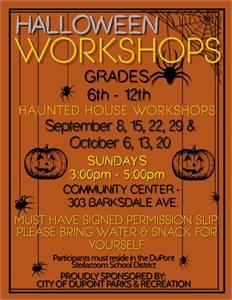 Halloween Workshops