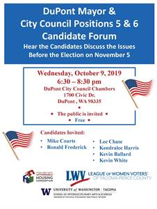 Candidates Forum for Mayor and Council Positions 5 & 6