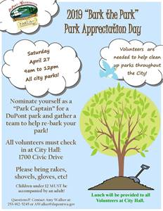 Bark the Park - Park Appreciation Day